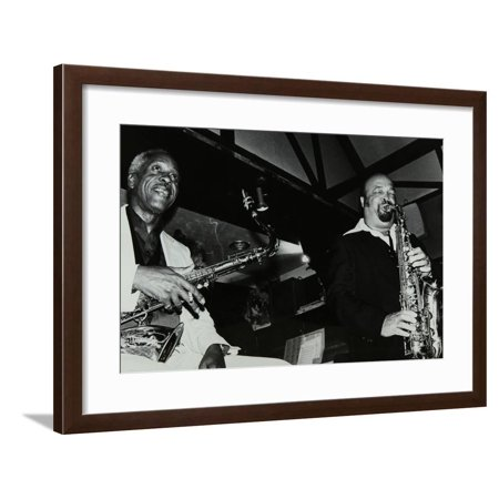 Sonny Stitt and Red Holloway Playing at the Bell, Codicote, Hertfordshire, 24 November 1980 Framed Print Wall Art By Denis Williams