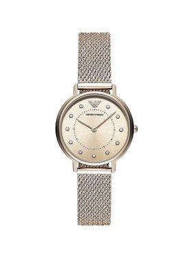 Emporio Armani Women's Rhinestone Rose Gold Stainless Steel Dress Watch AR11129