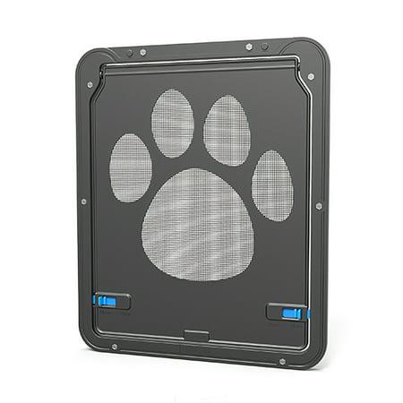 Pet Screen Door Magnetic Flap Screen Automatic Lockable Black Door for Small Cat Puppy - image 5 of 7