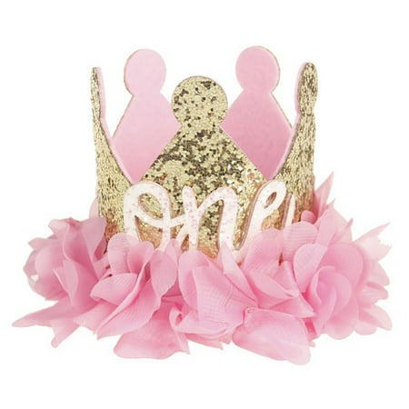 Moderna Baby Girls Sweet Flowers Sparkling Sequins Crown Number Birthday Party - Sweet 16 Headband