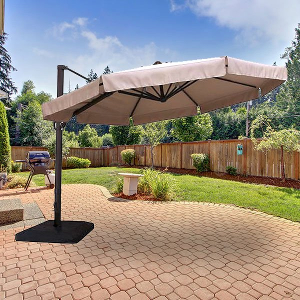 Garden Winds Replacement Canopy To For Menards 11ft Offset Umbrella Walmart Com Walmart Com