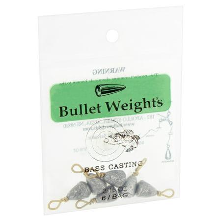Bullet Weights® Bass Casting #9, 3/16 oz, 6
