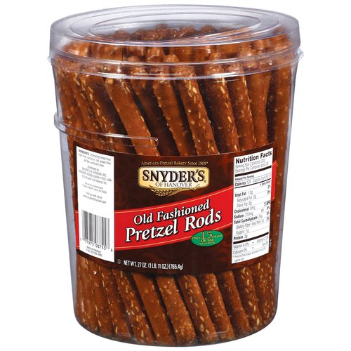 Snyder's Of Hanover Old Fashioned Rods Pretzels, 27 oz