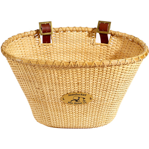 Nantucket Bicycle Basket Co. Gull Lightship Adult Oval Basket, Natural