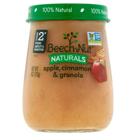 10 Jars Beech Nut Naturals Baby Food Jar Stage 2 Apple