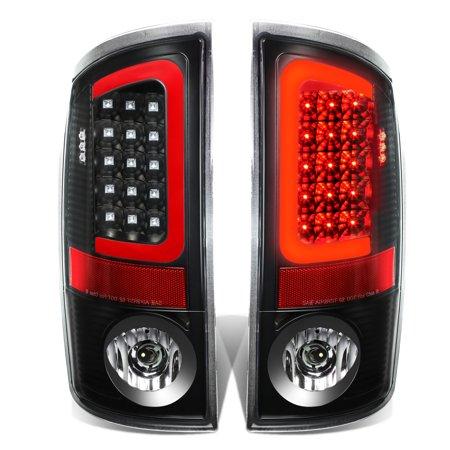 Crystal Clear 3rd Brake Light (For 07-09 Dodge Ram Pickup 3rd Gen Pair of 3D Red LED Bar Black Housing Clear Lens Brake Tail Lights 08 )