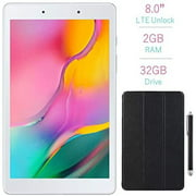 """Samsung Galaxy Tab A 8.0"""" Touchscreen (1280x800) WiFi Only Tablet, Qualcomm Snapdragon 429 2.0GHz Processor, 2GB RAM, 32GB Memory, Android 9.0 Pie OS, Silver w/Mazepoly Case & Stylus Pen"""