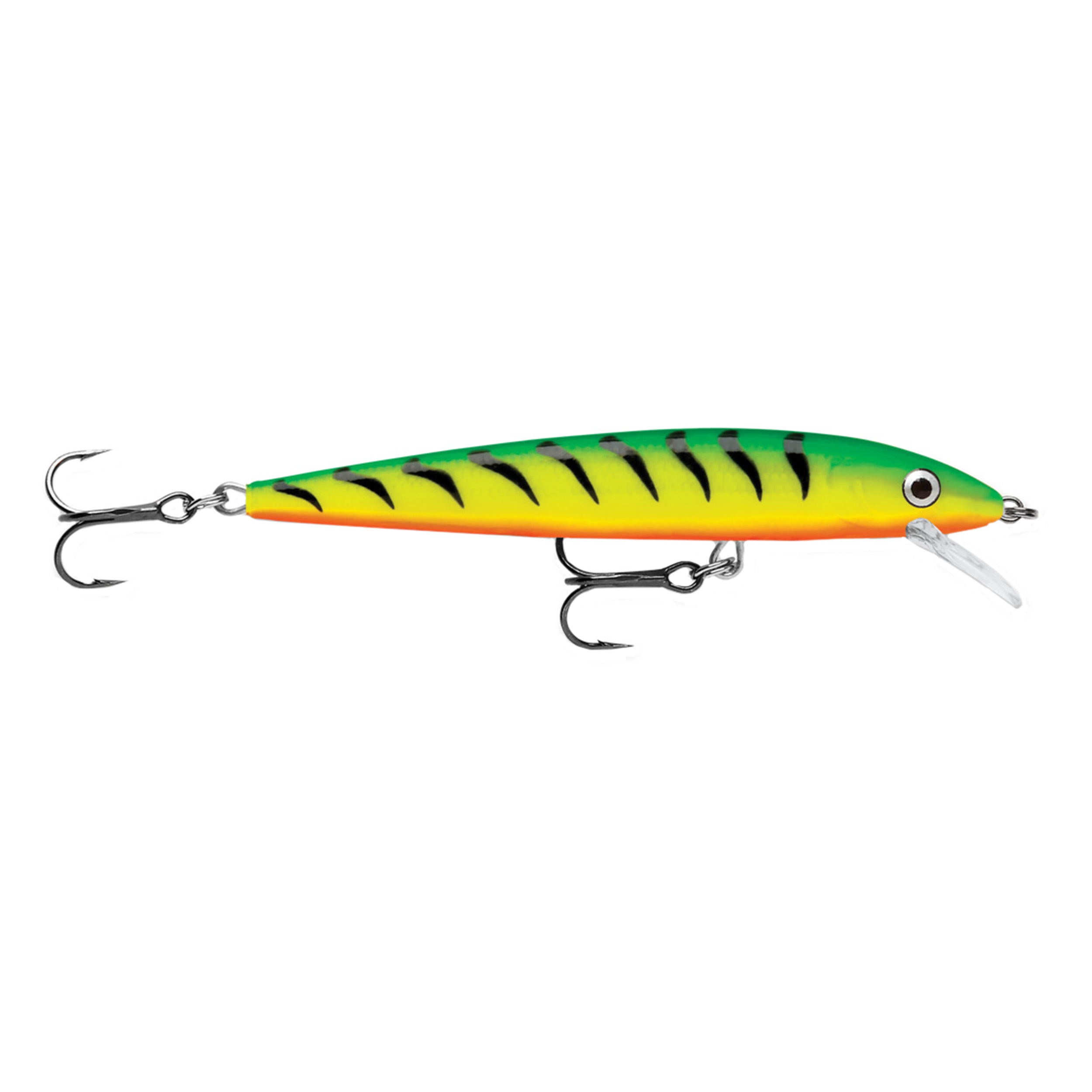 "Rapala Husky Jerk Lure Size 10, 4"" Length, 4'6' Depth, 2 Number 5 Treble Hooks, Fire Tiger, Per 1 by Rapala"