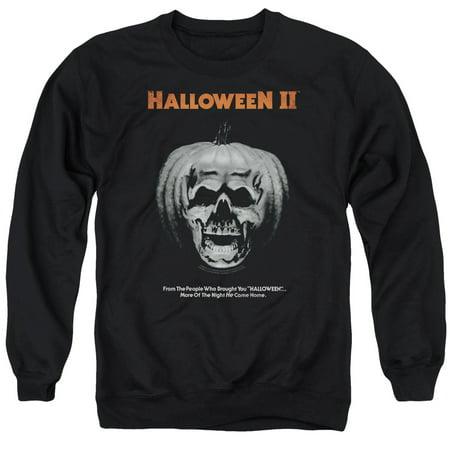 Halloween II Horror Slasher Movie Series Pumpkin Poster Adult Crew Sweatshirt