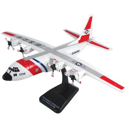 New-Ray Toys Inc. 20617 1/60 Lockheed C-130 Hercules USCG, Display stand included By NewRay Toys Inc