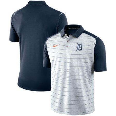 Detroit Tigers Nike Stripe Polo - Gray/Navy (Roger Federer Shoes Nike)