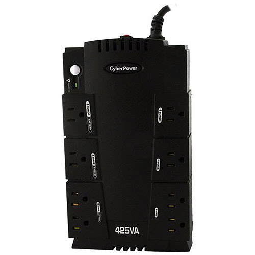 CyberPower CP425SLG 8-Outlet Standby UPS, 425VA/255W