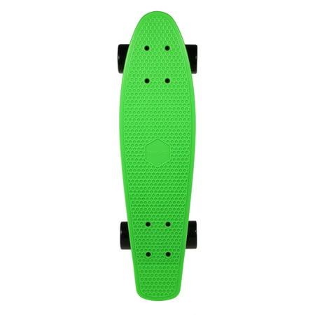 TOMSHOO 22 Inch Skateboard Cruiser Board PU Wheels Skate Board Complete Deck Skateboard (Slayer Skateboard Deck)