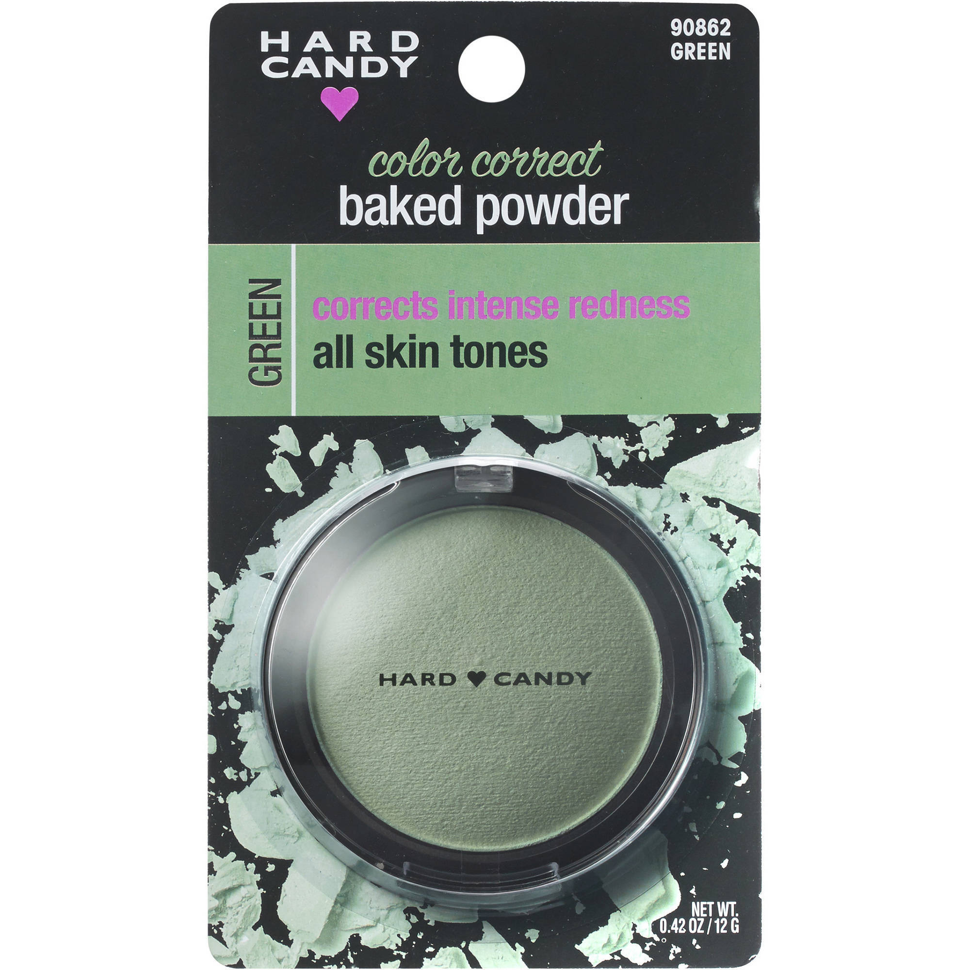 Hard Candy Color Correct Baked Powder, 0862 Green, .42 oz