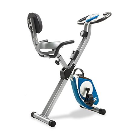 Solid Steel X-Frame Folding Exercise Bike w/ Padded Seat & 8 Level (Cycling Warehouse)