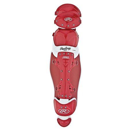 Rawlings LG950X Adult Baseball Catchers Leg Guard Red 16