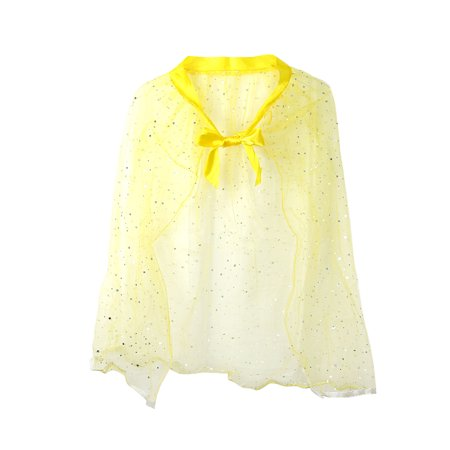 Pretend Play Dress Up Mozlly Yellow Princess Twinkle Star Costume Cape
