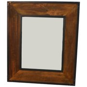 Landon Rectangle Wood and Metal Wall Mirror
