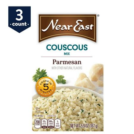 - (3 Pack) Near East Couscous Mix, Parmesan, 5.9 oz Box