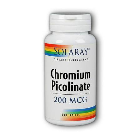 Solaray Le picolinate de chrome 200 mcg - 200 comprimés
