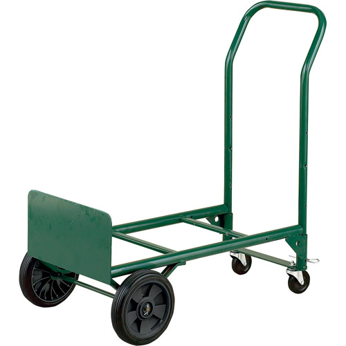 600 lbs Capacity Mutual Industries Inc. Mutual 50091 Heavy Duty Welded Steel 2-in-1 Hand Truck with Swivel Casters