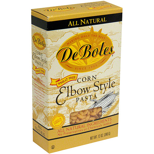 Deboles Corn Elbow Style Pasta, 12 oz (Pack of 12)