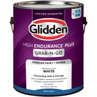 Glidden High Endurance Plus Grab-N-Go Semi-Gloss Interior Paint & Primer, White, 1 Quart