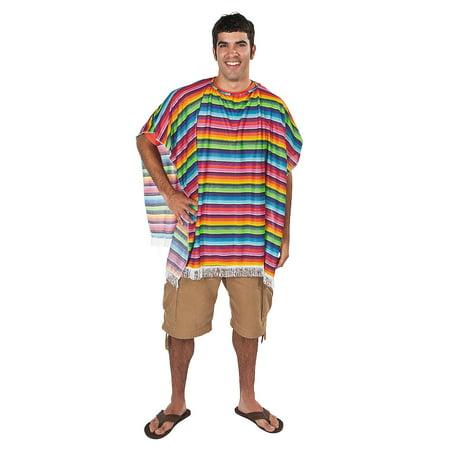 Fun Express - Fun Fiesta Poncho for Cinco de Mayo - Apparel Accessories - Apparel - Misc Apparel - Cinco de Mayo - 1 Piece