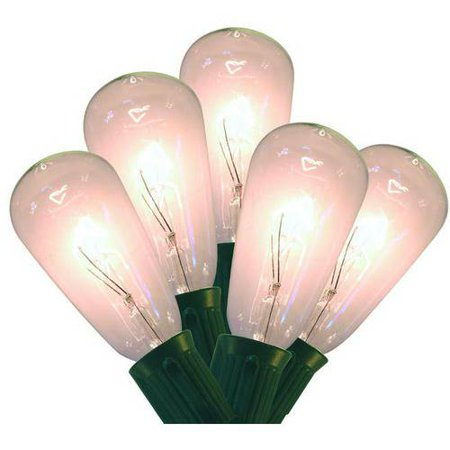 holiday time edison bulb christmas lights clear 10 count