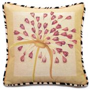 Corona Dcor Corona Decor French Woven Beige/ Rose Floral Cotton and Wool Decorative Throw Pillow