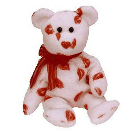 TY Beanie Baby - SMOOCH the Kisses Bear (8.5 (Baby White Bear)