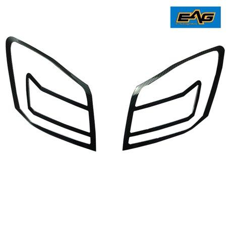 EAG 08-12 Honda Accord Carbon Fiber Look ABS Tail Light Bezels Carbon Fiber Euro Tail