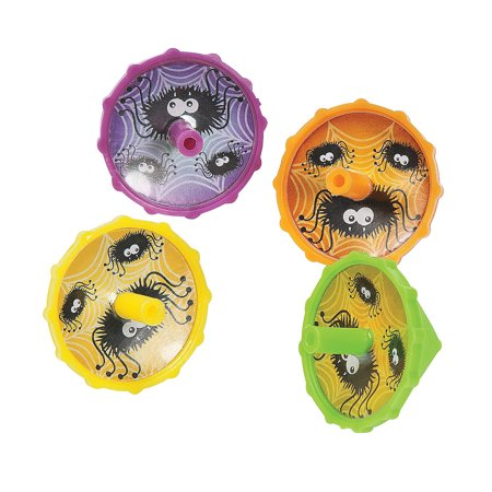 Fun Express - Spider Spin Tops for Halloween - Toys - Value Toys - Tops - Halloween - 72 - Spin Halloween Nyc