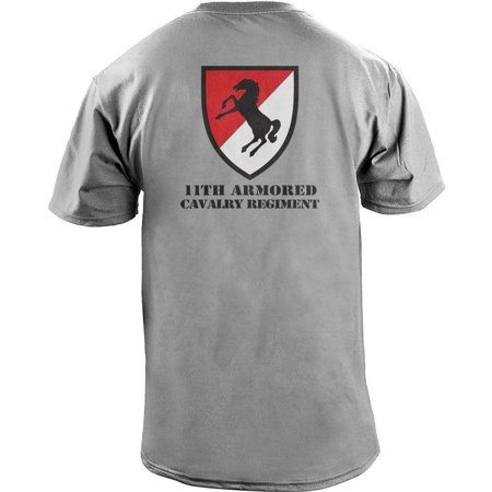 1st Cavalry First Team T-shirt - Army 11th Armored Cavalry Regiment Veteran Full Color T-Shirt