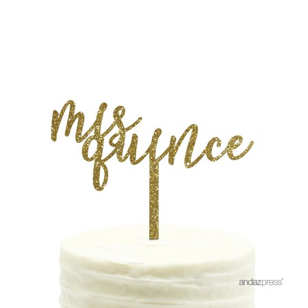 Gold Glitter Acrylic Mis Quince Sweet 15 Birthday Cake Topper