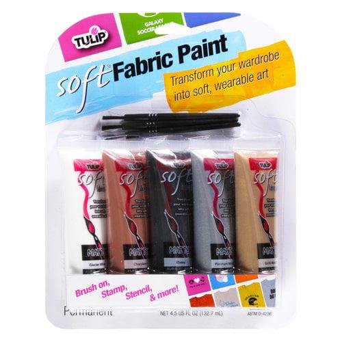 Tulip Soft Fabric Paint, Neutral, 5pk