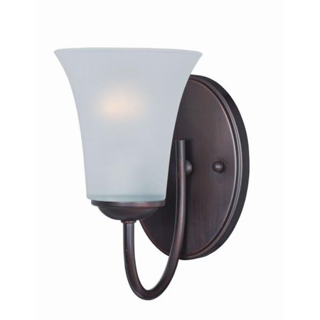 Maxim Lighting Logan - One Light Wall Sconce, Oil Rubbed Bronze Finish with Frosted Glass