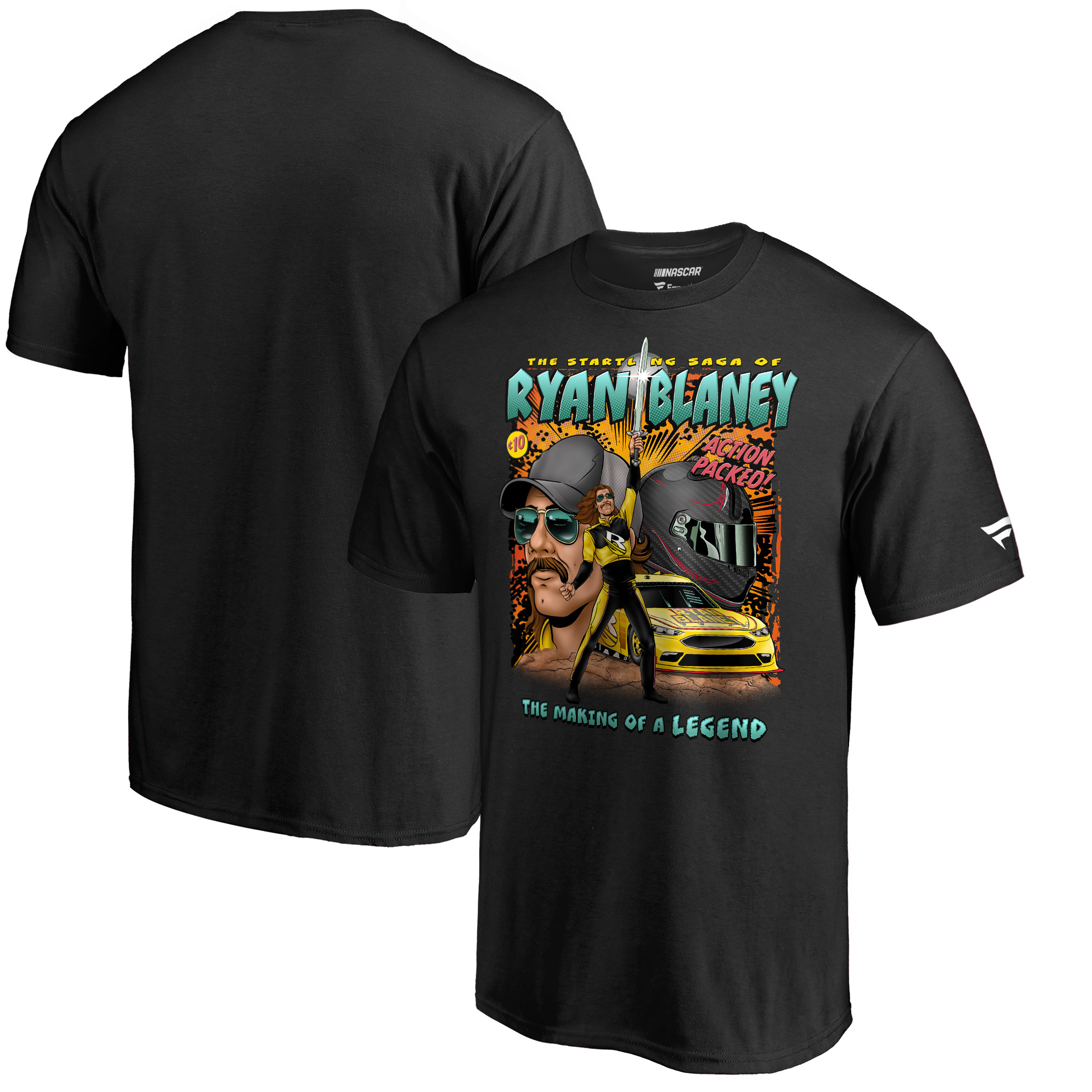 Ryan Blaney Fanatics Branded Comic Book Lifestyle Collection T-Shirt - Black