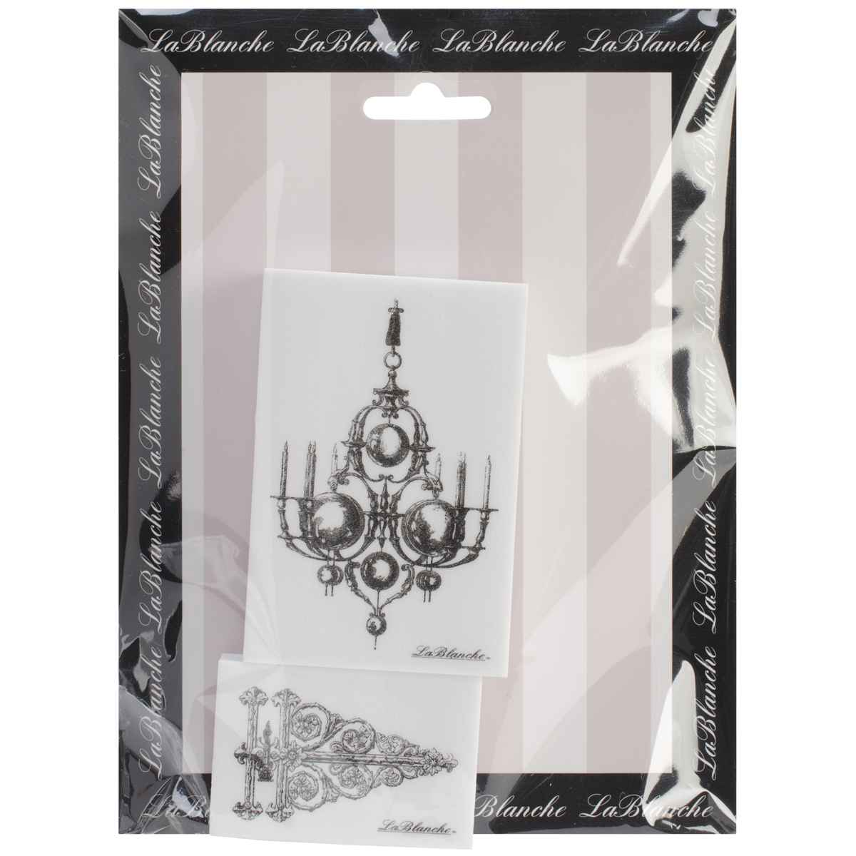 "LaBlanche Silicone Stamps 6""X7.5"" Sheet-Hinge & Chandelier"