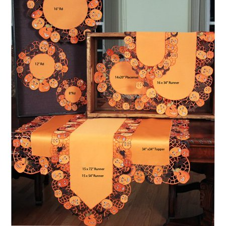 Xia Home Fashions Happy Jack-O-Lanterns Table Topper