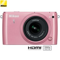 Nikon 1 S1 10.1MP Pink Digital Camera with 11-27.5mm Lens - (Certified Refurbished)