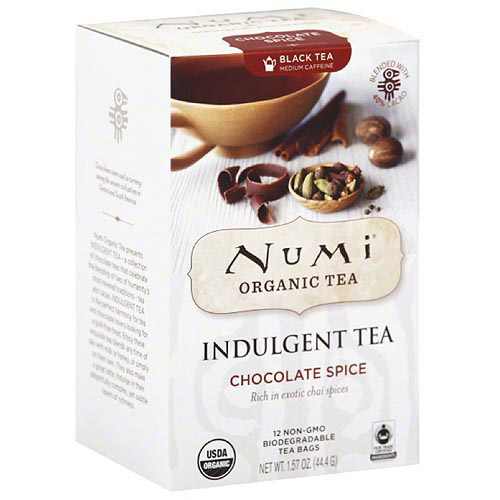 Numi Organic Tea Chocolate Spice Indulgent Tea, 12 count, 1.42 oz, (Pack of 6)
