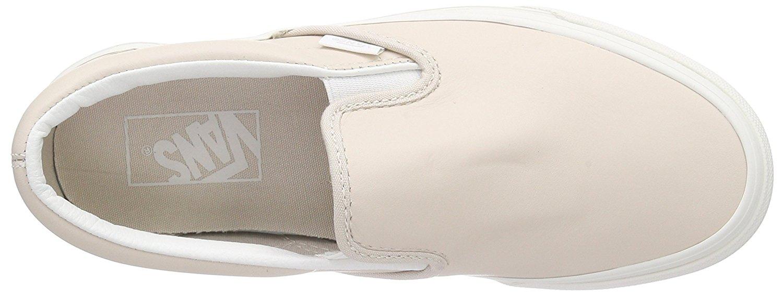 0e9832b0695a60 Vans - Vans Classic Slip-On Leather Whispering Pink   Blanc De Ankle-High  Skateboarding Shoe - 9M 7.5M - Walmart.com