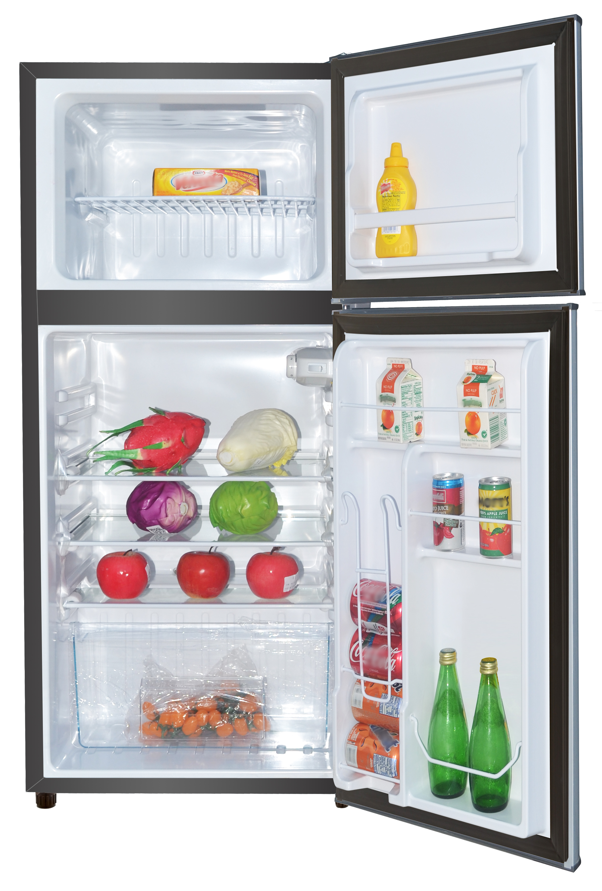 RCA 4 5 Cu Ft Two Door Mini Fridge with Freezer RFR459