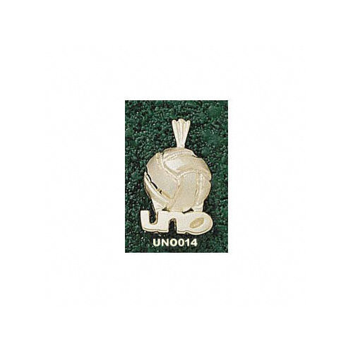 NCAA - New Orleans Privateers 10K Gold ''UNO'' Volleyball 1/8'' Pendant