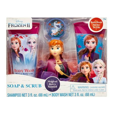 Disney Frozen II 4-Piece Soap and Scrub Body Wash and Shampoo Set