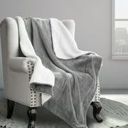 Bedsure Sherpa Fleece Reversible Blanket Twin Size Gray Plush Throw Blanket Fuzzy Ultra Soft Blanket Microfiber