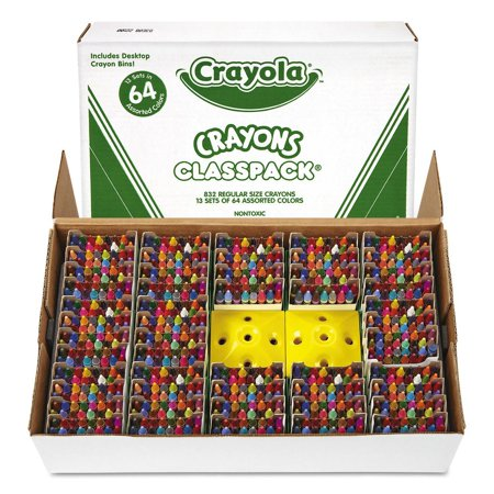 Product of Crayola Classpack Crayons, 64 Colors, 832 Total Crayons - Crayons [Bulk - Crayola Products