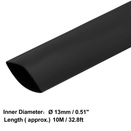 Heat Shrink Tube 2:1 Electrical Insulation Tubing Black 13mm Diameter 10m Length - image 3 of 4