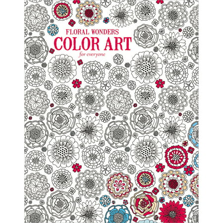 Leisure Arts Inc Color Art for Everyone Floral Wonders Coloring Book, 1 Each - Leisure Arts Pad